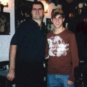 Miguel with Cesc Fabregas at La Paella Tapas Bar