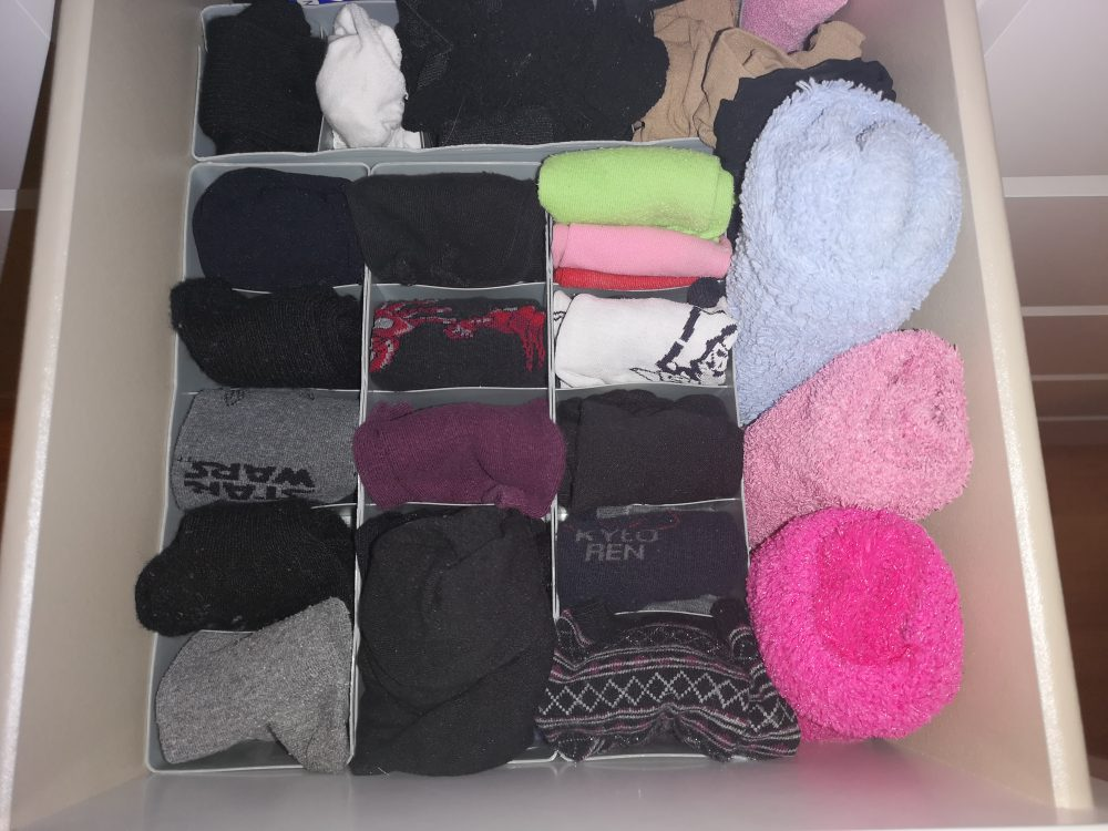 lappeteppet-konmari-sokker-organisering