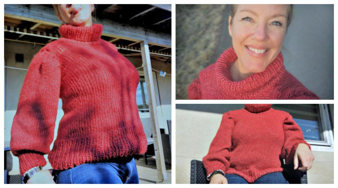 strikket en genser