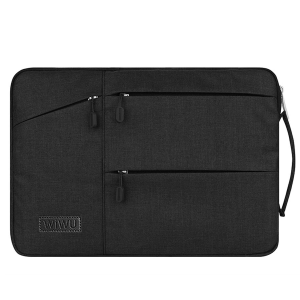 Black Wiwu Multi Pockets Sleeve For Laptop And MacBook Air & Pro