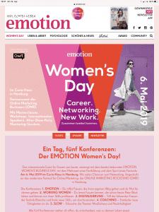 Larissa Wasserthal Emotion Womens Day 2019