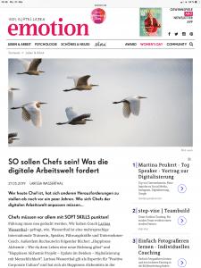 Emotion Online Magazin - Chefs in der digitalen Arbeitswelt
