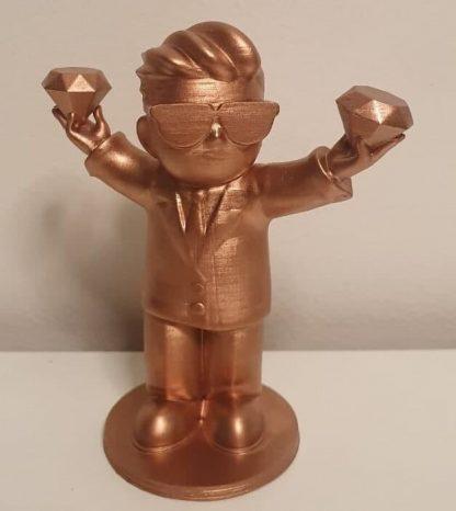 Diamond hand bronze