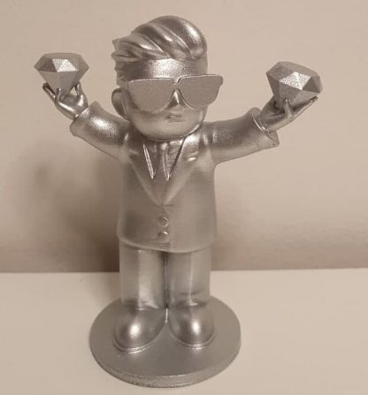 Diamond hand silver