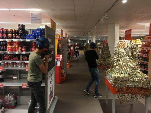 Bedrijfsuitje lasergamen Rotterdam supermarkt Albert Heijn