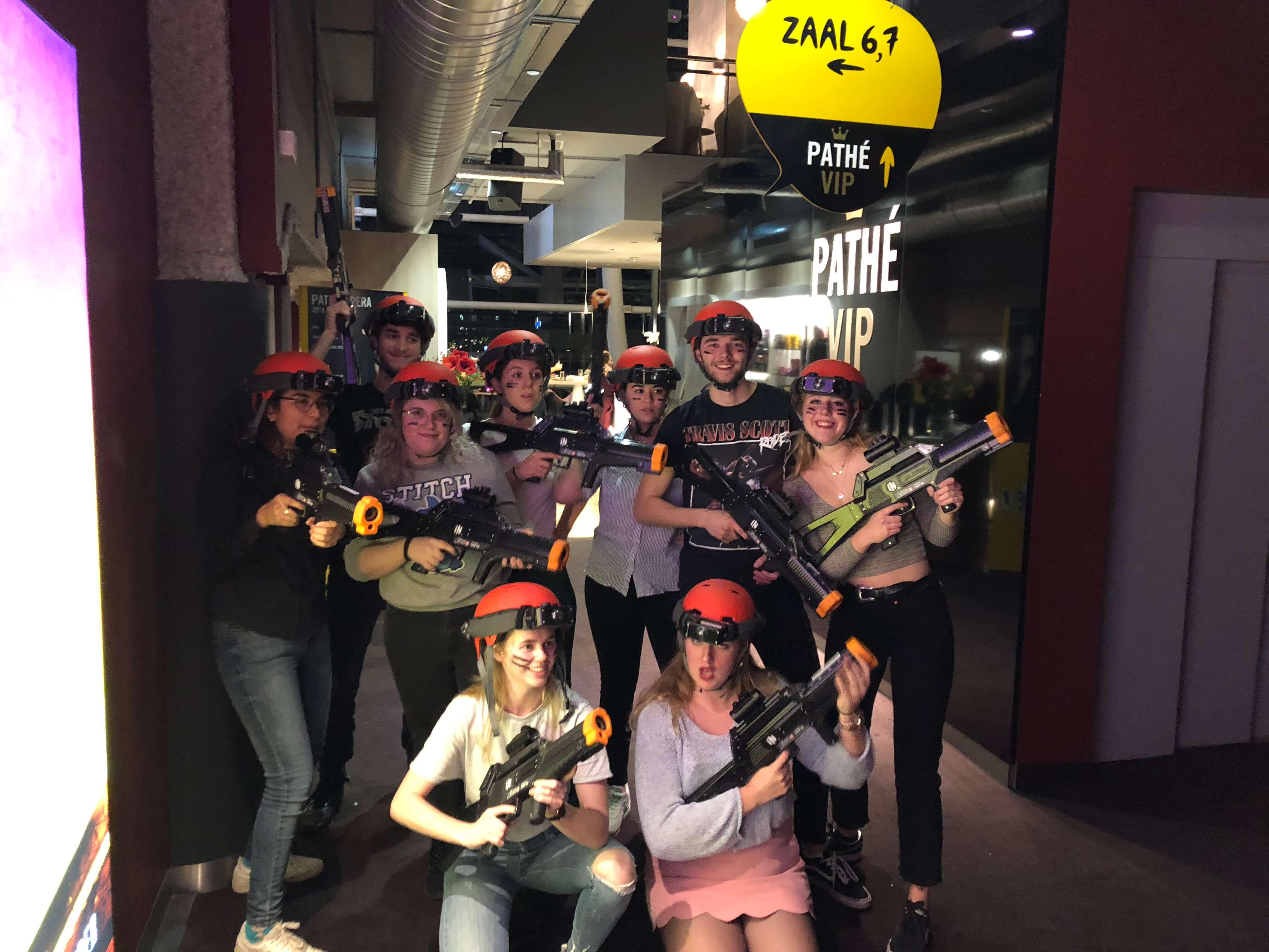 Lasergame in Rotterdam op locatie personeelsuitje