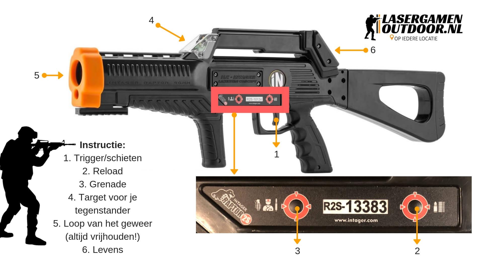 Professioneel lasergame wapen voor binnen en buiten