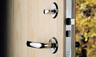 montering af lås