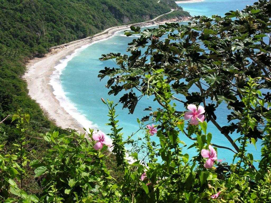 LatinA Tours Dominikanische Republik Barahona - Coast, Paraiso, Street, Flowers, South-West, Ocean