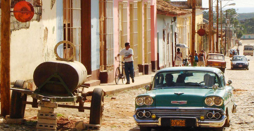 LatinA Tours Cuba Trinidad - City center, Tour, Buildings, Street, Car, Central Region