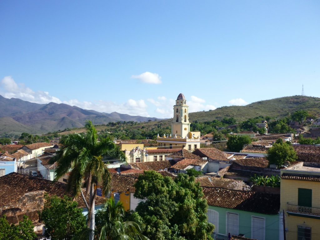 LatinA Tours Kuba Trinidad - City overview, Roof top view, Palm trees, Central Region