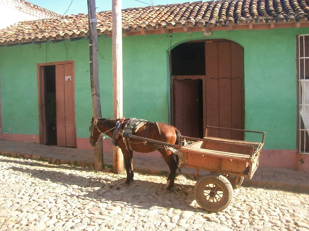 LatinA Tours Kuba Trinidad - Street, Local House, Building, Horse, Central Region,