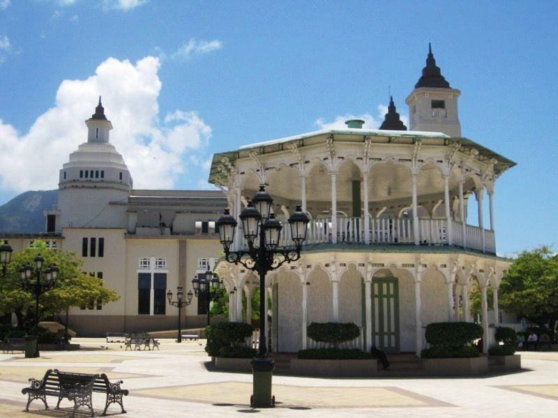 LatinA Tours DomRep - Puerto Plata - Parque Central, Church, Colonial Building,