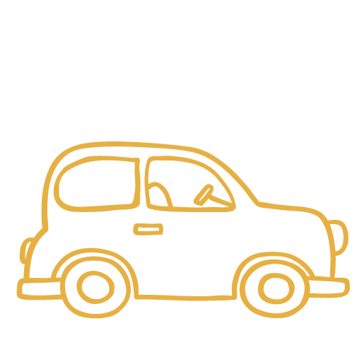 La voiture jaune