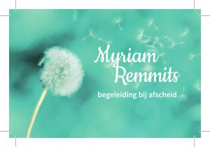 Logo Myriam Remmits, Begeleiding bij Afscheid