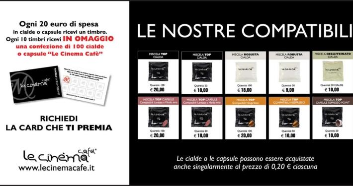 6x3 Le Cinéma Cafè la nostra tessera