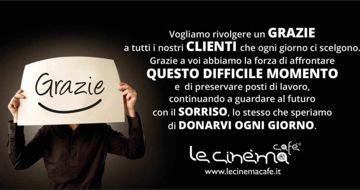 6x3 Le Cinéma Cafè di ringraziamento