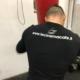 Michael Magnesi durante l'allenamento