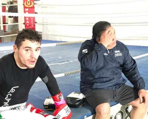 Michael Magnesi piccola pausa durante l'allenamento