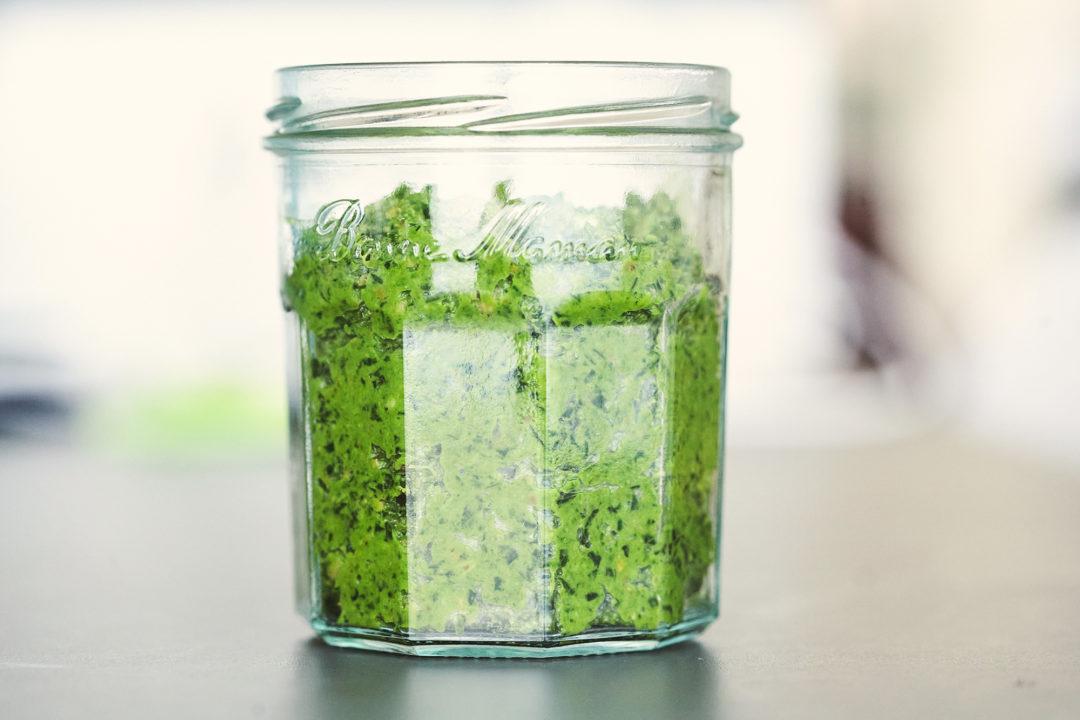 Kohlrabi Blatt Pesto Rezept