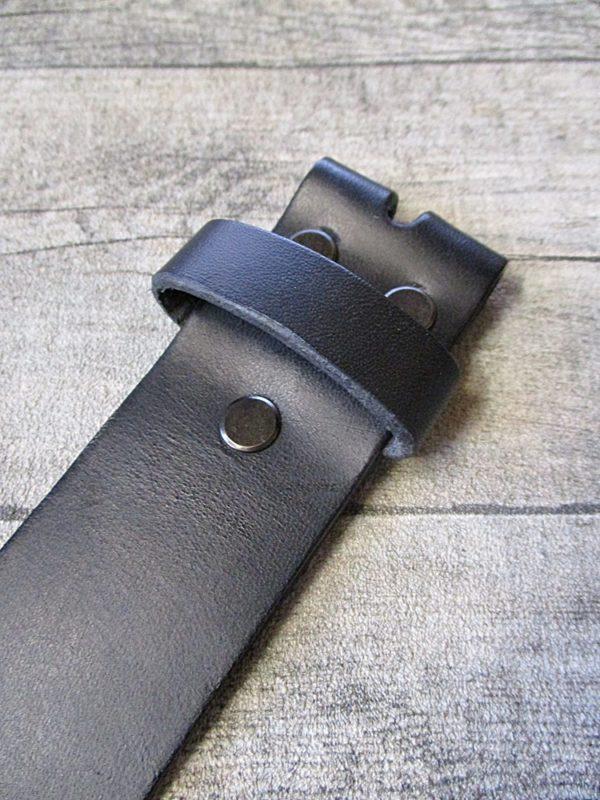 Gürtel-Wechselgürtel-Ledergürtel-schwarz-Rindsleder-Konfektionsgröße-115-LTM
