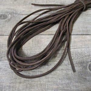 Lederband Lederriemen Rindsleder braun flach 2,5x3 mm