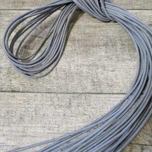 Lederband Lederriemen Rindsleder grau rund 1m 2mm