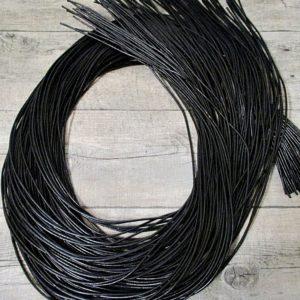 Lederband Lederriemen Rindsleder schwarz rund 1m 2mm