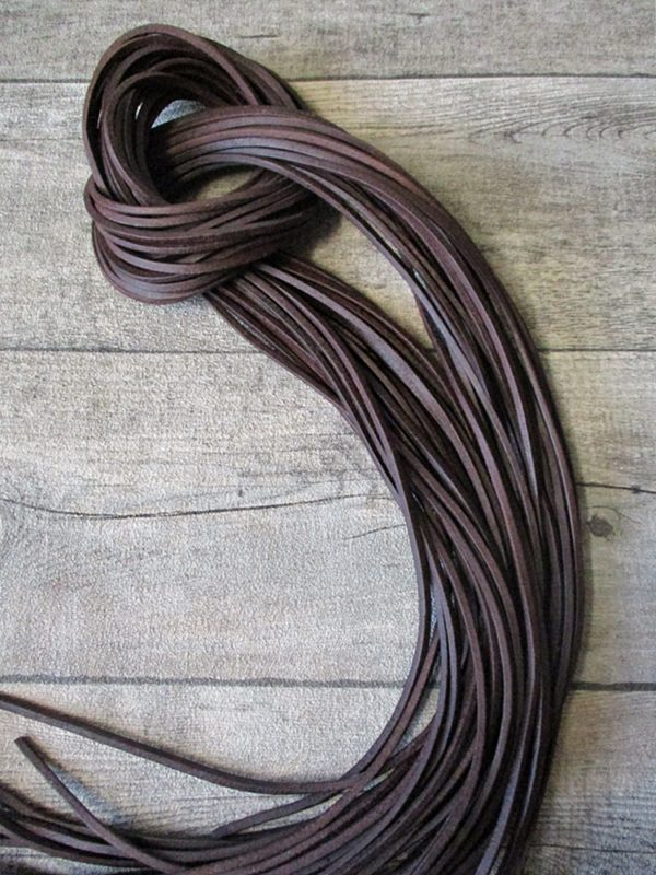 Lederband Lederriemen vierkant braun 1 m 2,5x2,5 mm
