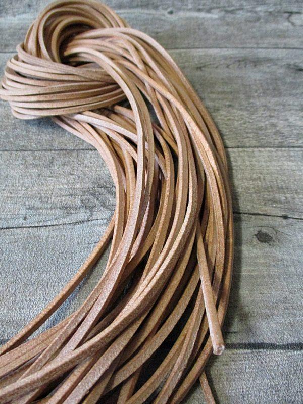Lederband Lederriemen vierkant natur 1 m 2,5x2,5 mm