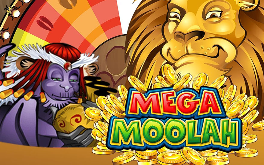 Mega Moolah - Slot machine with a big progressive jackpot