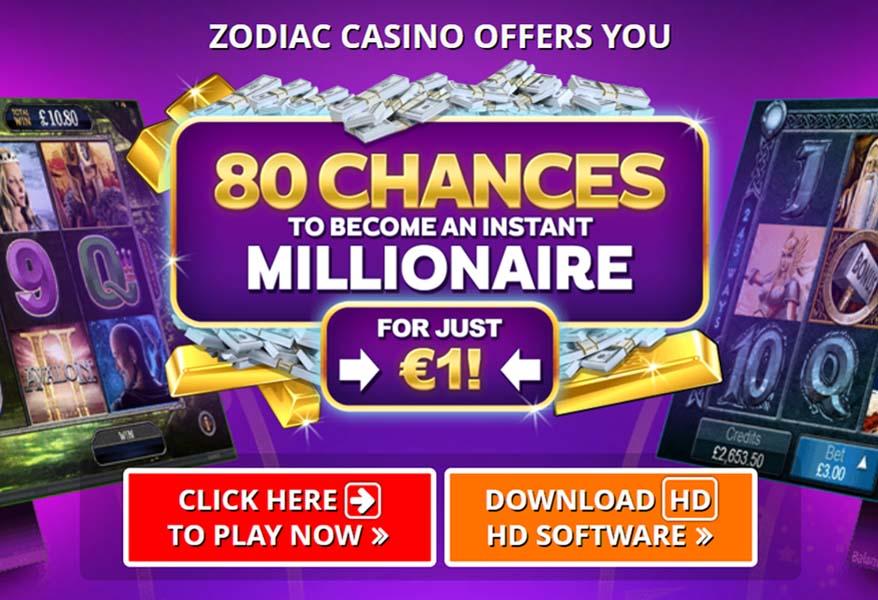 Zodiac Casino and the Mega Moolah Slot Machine