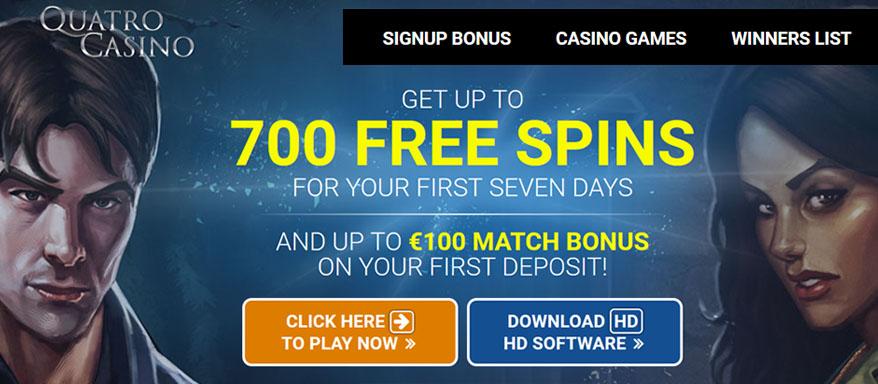Quatro Casino and online slot machines