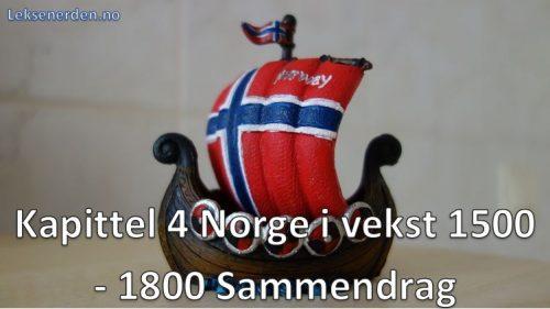 Kapittel 4 Norge i vekst 1500-1800 Sammendrag Historie Vg2