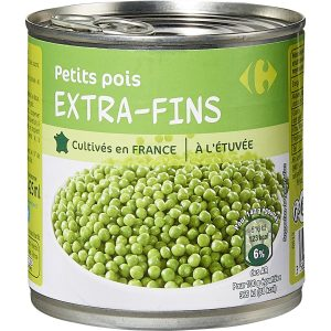 Petits pois extra-fins CARREFOUR 1/2