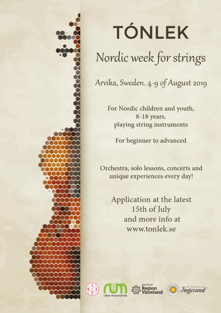 Tónlek, Nordic week for strings.
