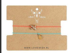 Love Ibiza – ENKELBANDJES SET CACTUS/MUNTJE GOLD