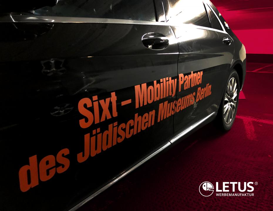 Fahrzeugflotten-Beschriftung für Sixt - Mobility Partner
