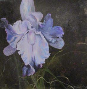 Lilla Orkide Akryl 80x80 Gitte Levin