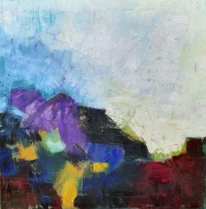 """Abstrakt """"landskab"""" Olie Gitte Levin"""