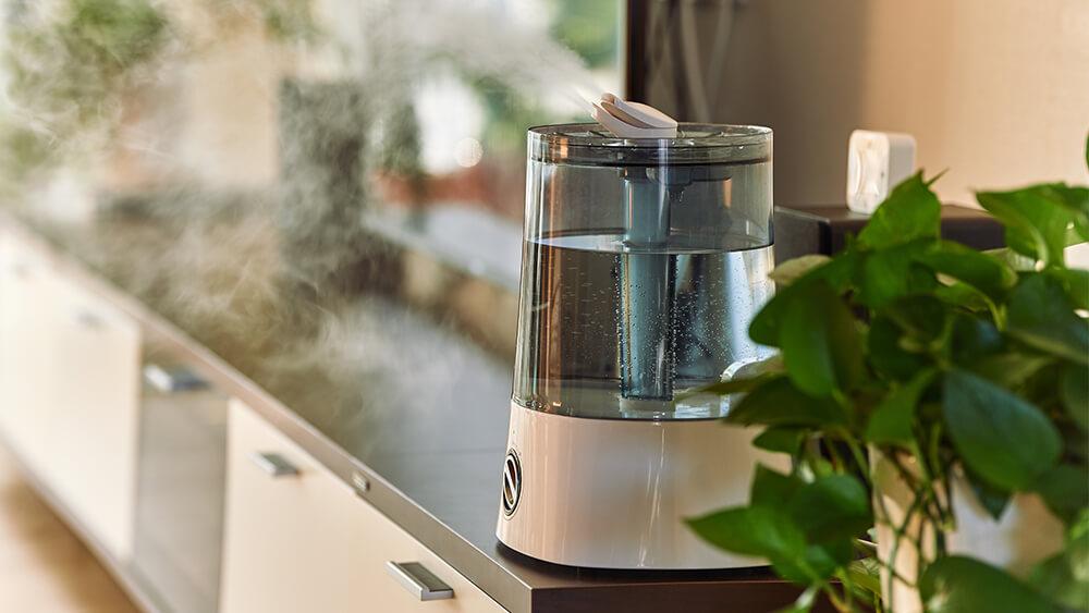luftfukter vask rens