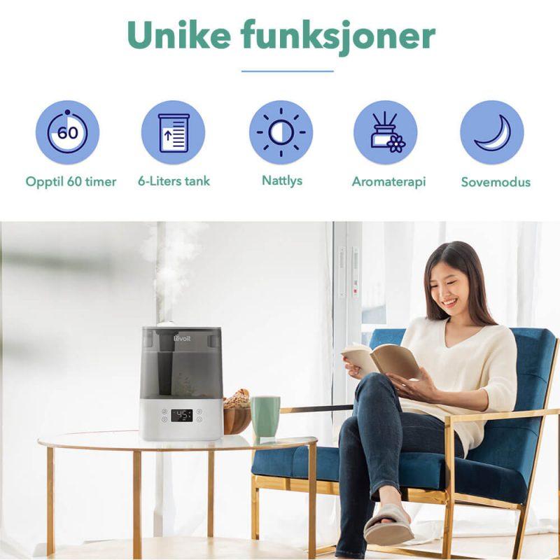 Luftfukter Classic smart 300 unike funksjoner