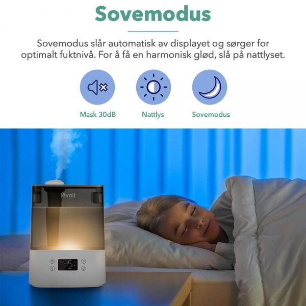 Luftfukter sovemodus smart levoit