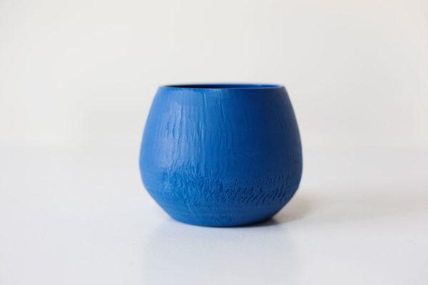 bloempotje - blauw porselein
