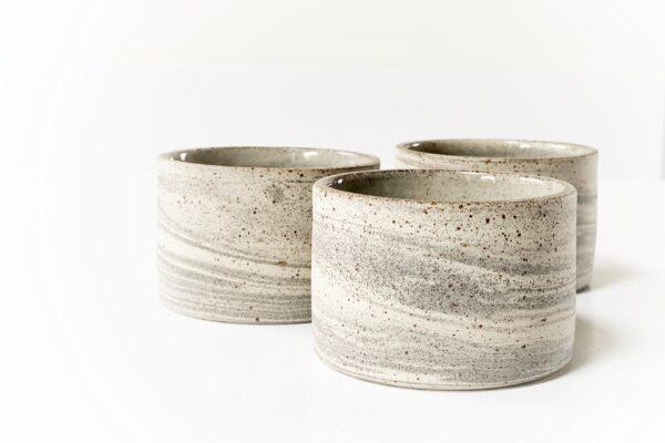 Gemarmerde kop - grijswit