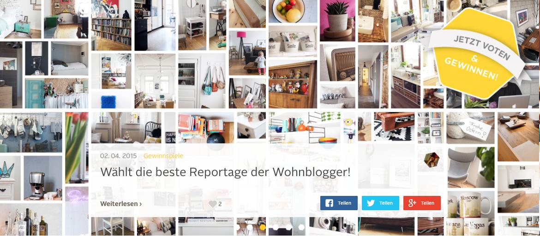 Deine Stimme fürs Stadtblogozin: Vote für deine liebste Wohnung bei Roombeez