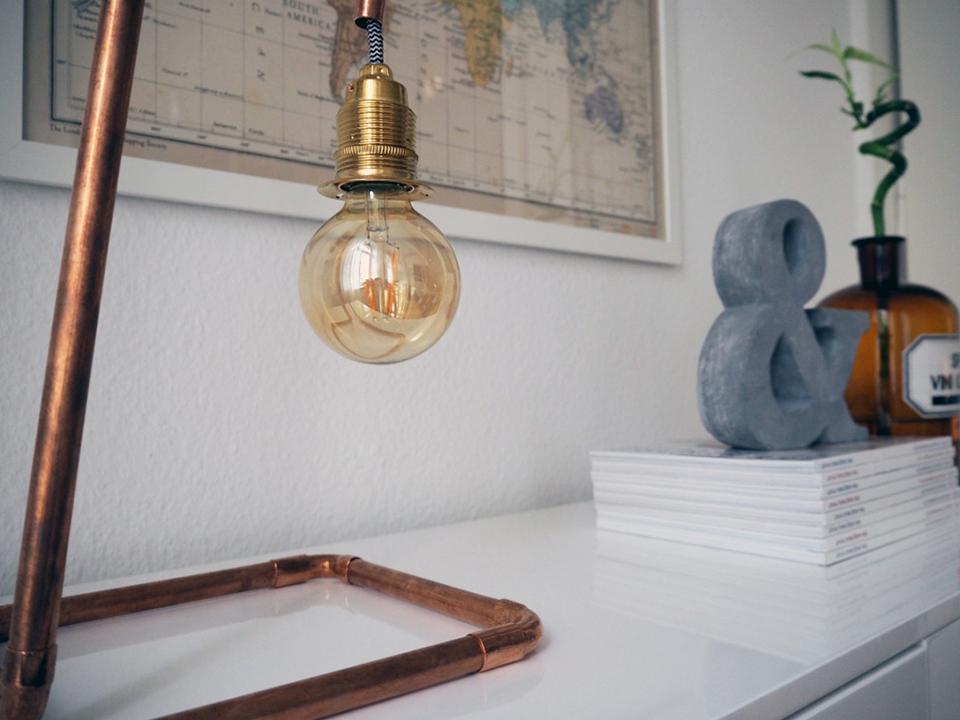 DIY Lampe aus Kupferrohren-6