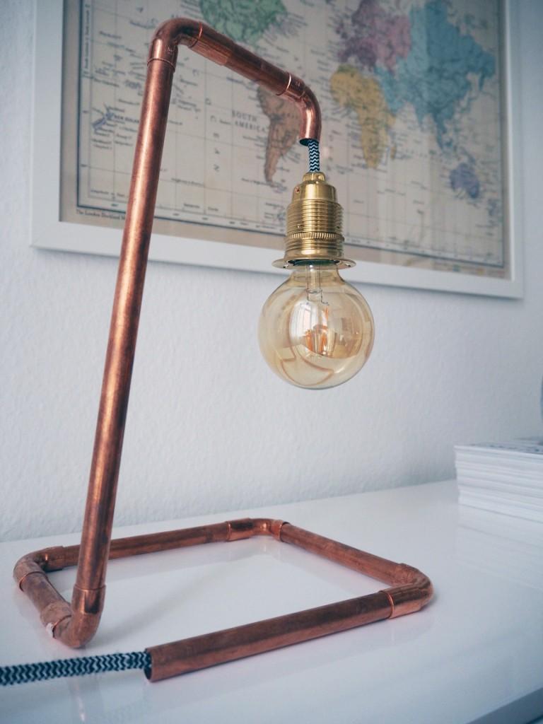DIY Lampe aus Kupferrohren-7