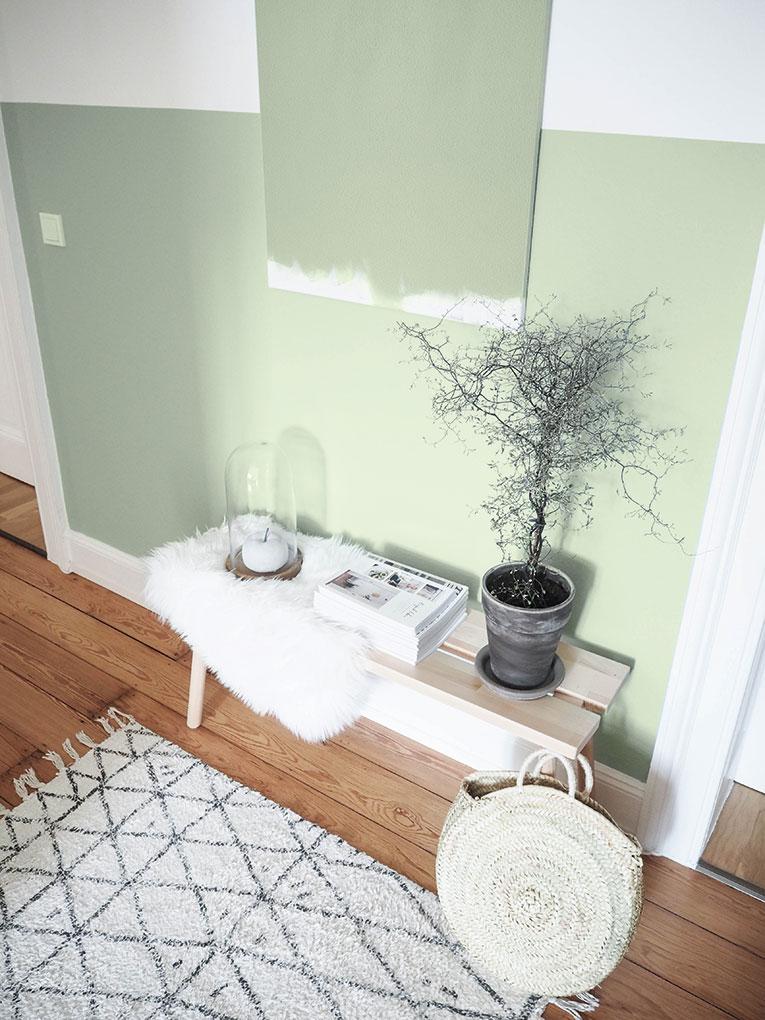 Lieblings Blog Stiltalent toom Portobello Green Halfpainted Wall Wand halbhoch streichen