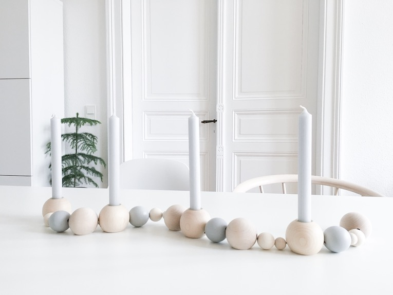 DIY Holzkugelkranz für den Advent und das ganze Jahr